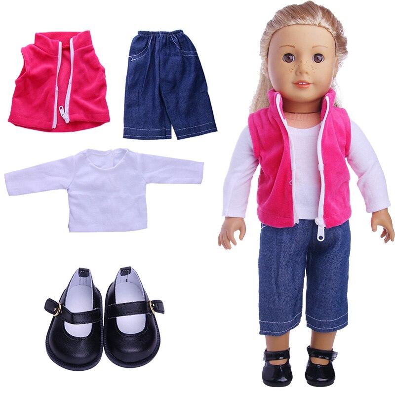 4-5 шт набор кукольная одежда для куклы, костюмы и обувь комбинации Продам подходит 18 дюймов с капюшонами в американском и 43 см для ухода за ре...