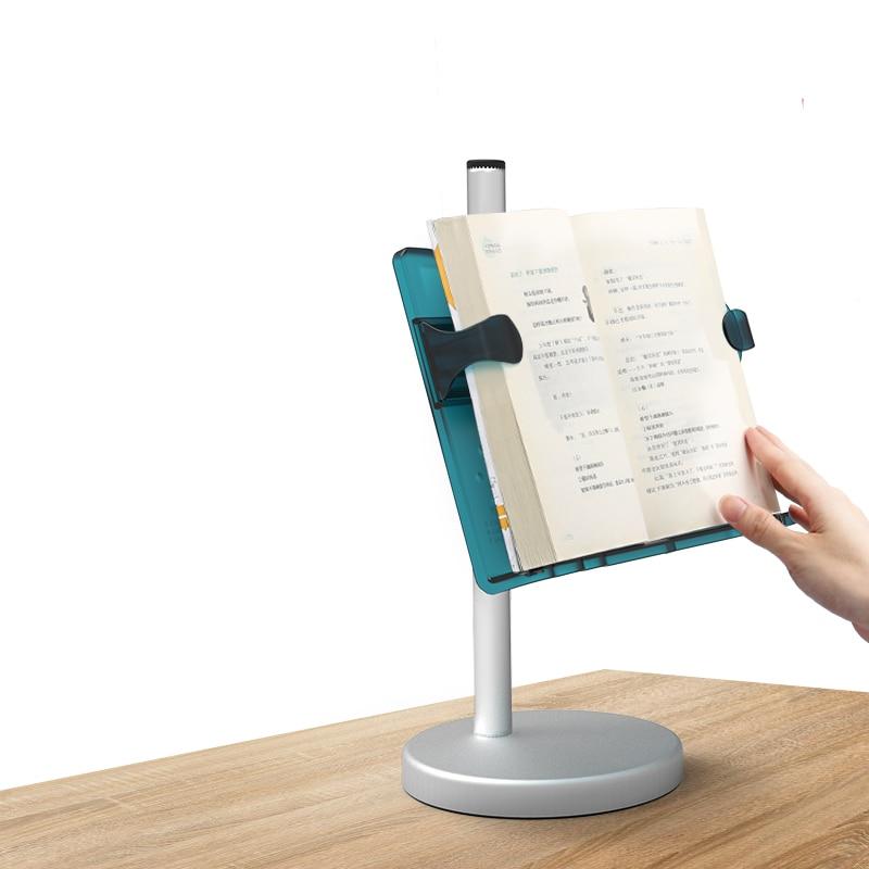 Desktop Vertical Book Stand Multifunctional Portable Reading Bookshelf Retractable One-handed for Adult Students Children