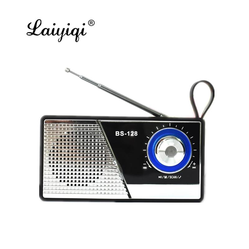 Laiyiqi-mando de antena clásico con bluetooth, radio retro, altavoz FM, mango portátil,...