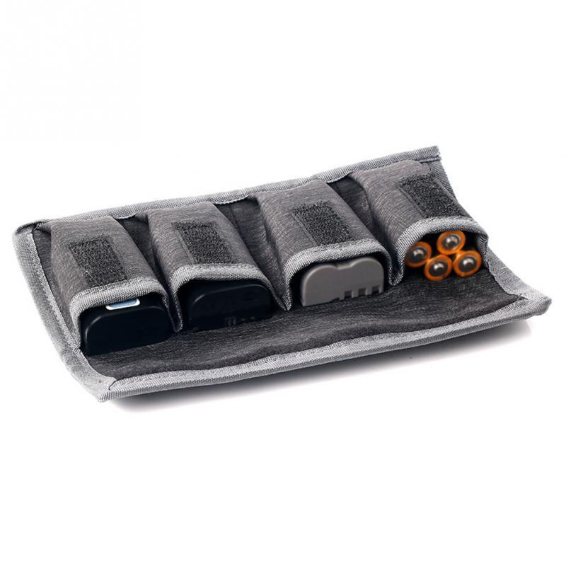 Saco de armazenamento profissional universal, saco para armazenamento de bateria, adesivo mágico, à prova d água, resistente ao tempo, caixa de bateria