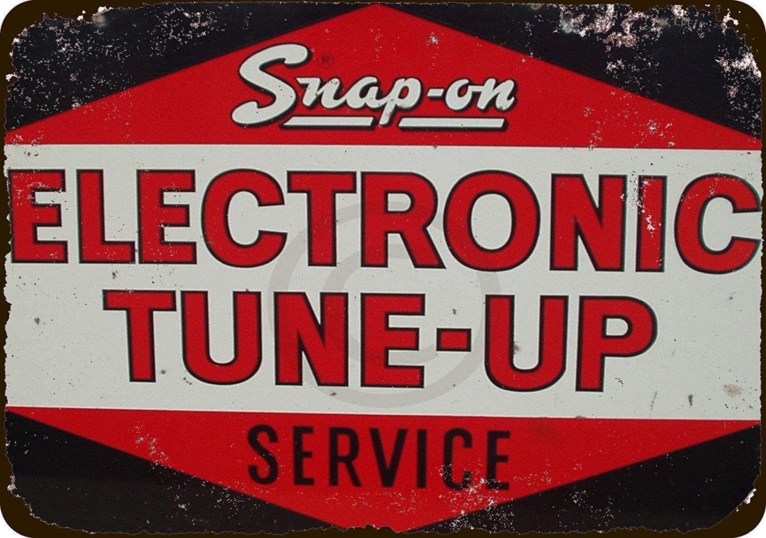 Snap On Electronic Tune Up Service Retro Metal Tin Sign Plaque Poster Wall Decor Art Shabby Chic Gift