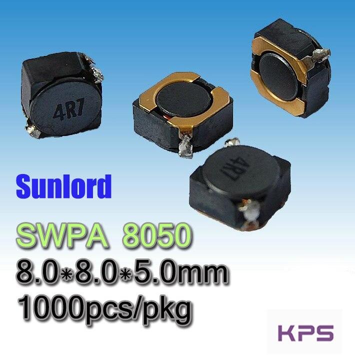 SWPA 8050 alambre herida SMD inductancia de potencia SMD teléfonos Tele vídeo de TV de Audio de la computadora 3C 5G AI navegación VR AR LED
