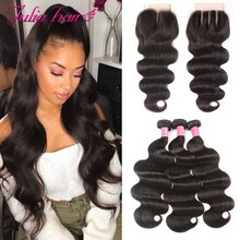 Brazilian Hair Bundles With Closure Human Hair Body Wave 4x4 Lace Closure with Bundles Ali Julia Hair Weave with Closure