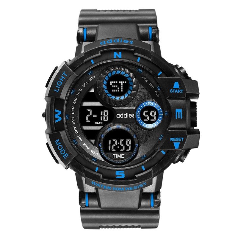 Relógio para Homens à Prova Moda Esportes Relógio Digital Men Mergulho Esporte Led Dwaterproof Água Genebra Militar Relógios Relojes Hombre 2021
