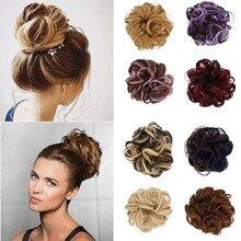 1PC femmes mode bouclés vague cheveux synthétiques Chignon Chignon cheveux accessoires postiches queue cheveux chapellerie élastique