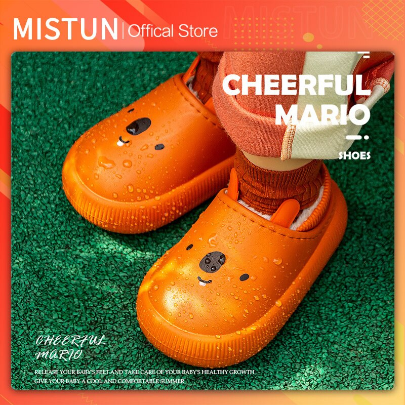 2021 new winter children's cotton slippers cartoon eva soles kindergarten warmth and velvet cotton s