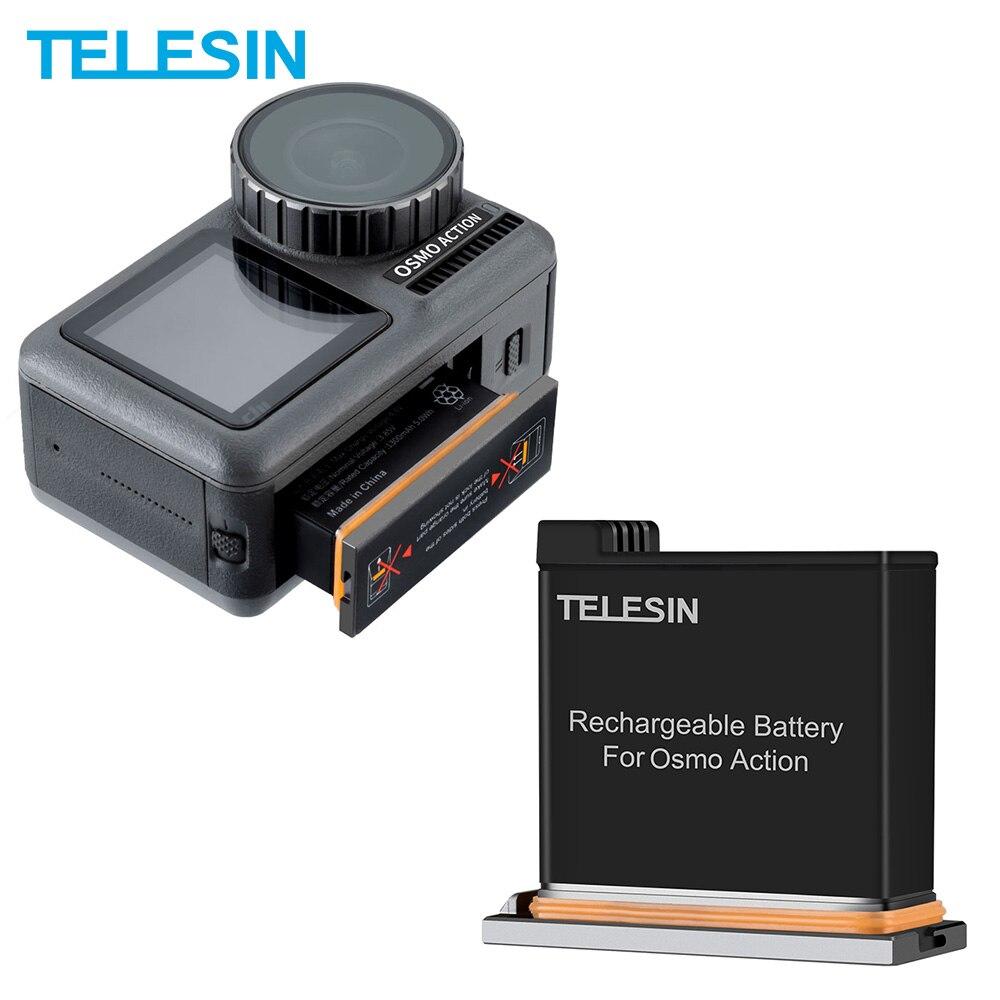 Paquete de batera TELESIN para DJI Osmo acción repuesto de batera de...