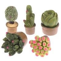 Mini plantes vertes en pot  2 pieces  Cactus  desert  Cactus  ornement de maison  petite Statue  petite Figurine  decoration artisanale mignonne