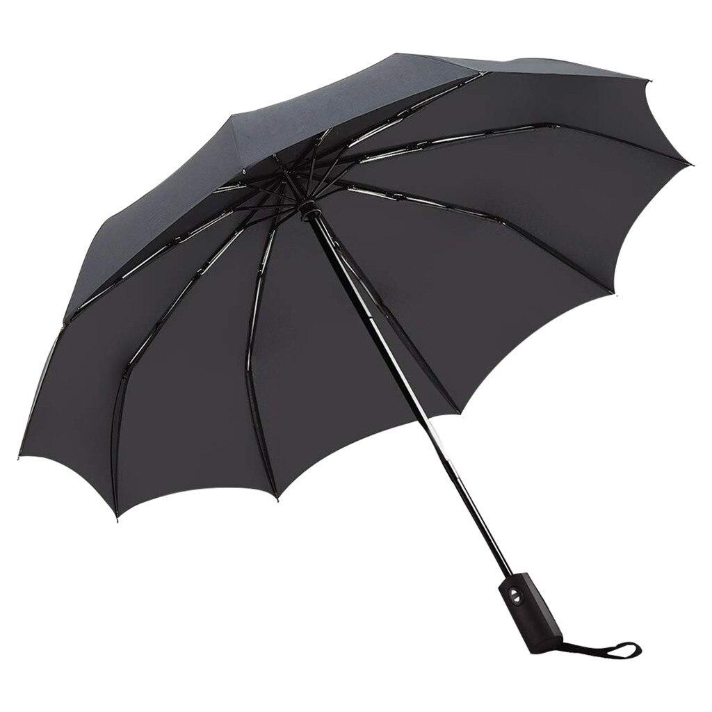 Paraguas invertidos de doble capa a prueba de viento completamente automático paraguas plegable protección Uv lluvia mujeres hombre Auto paraguas #25
