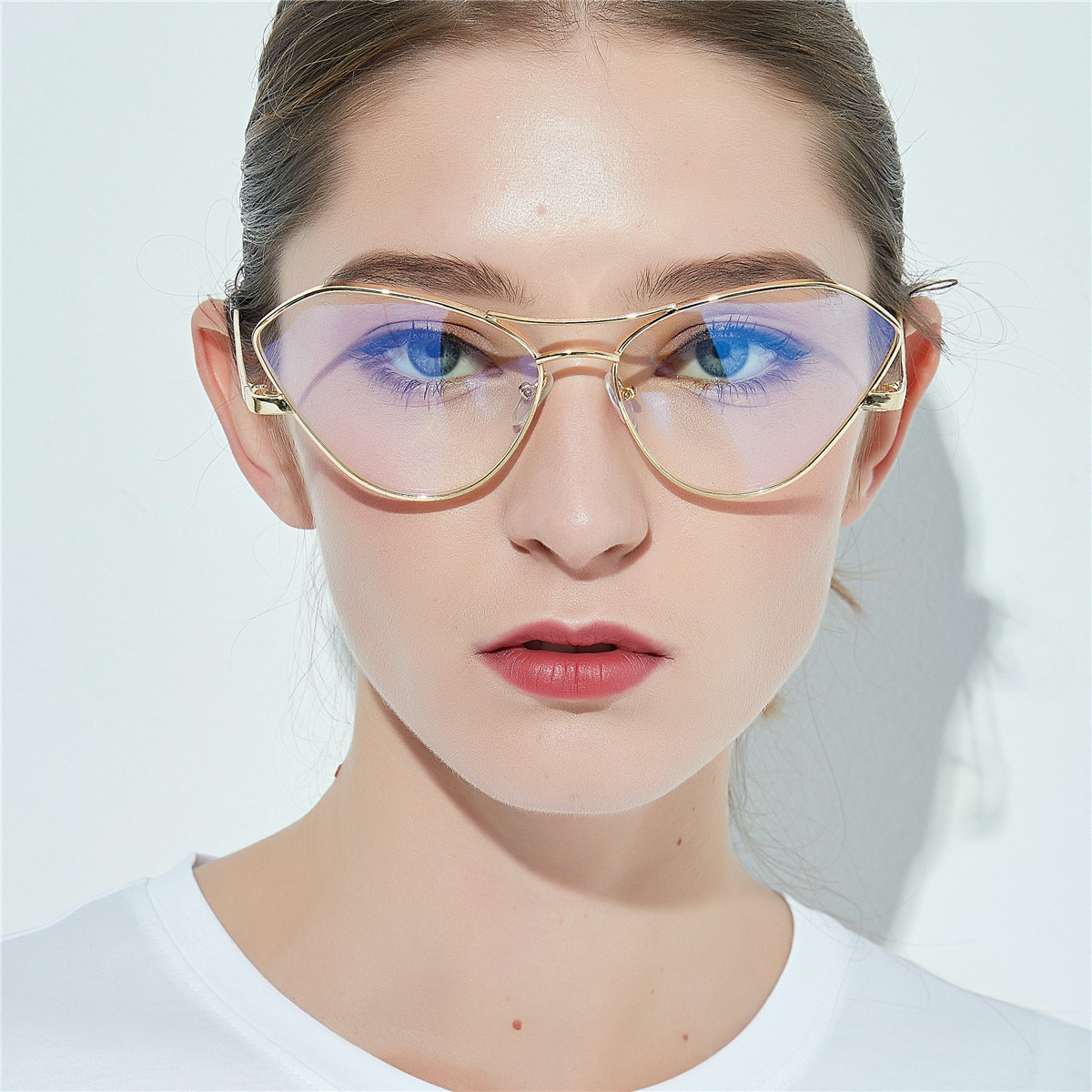 Бренд MINCL, титановый сплав, металлическая оправа, прогрессивные очки для чтения, мужские очки для дальнозоркости, женские кошачьи Мультифокальные очки NX