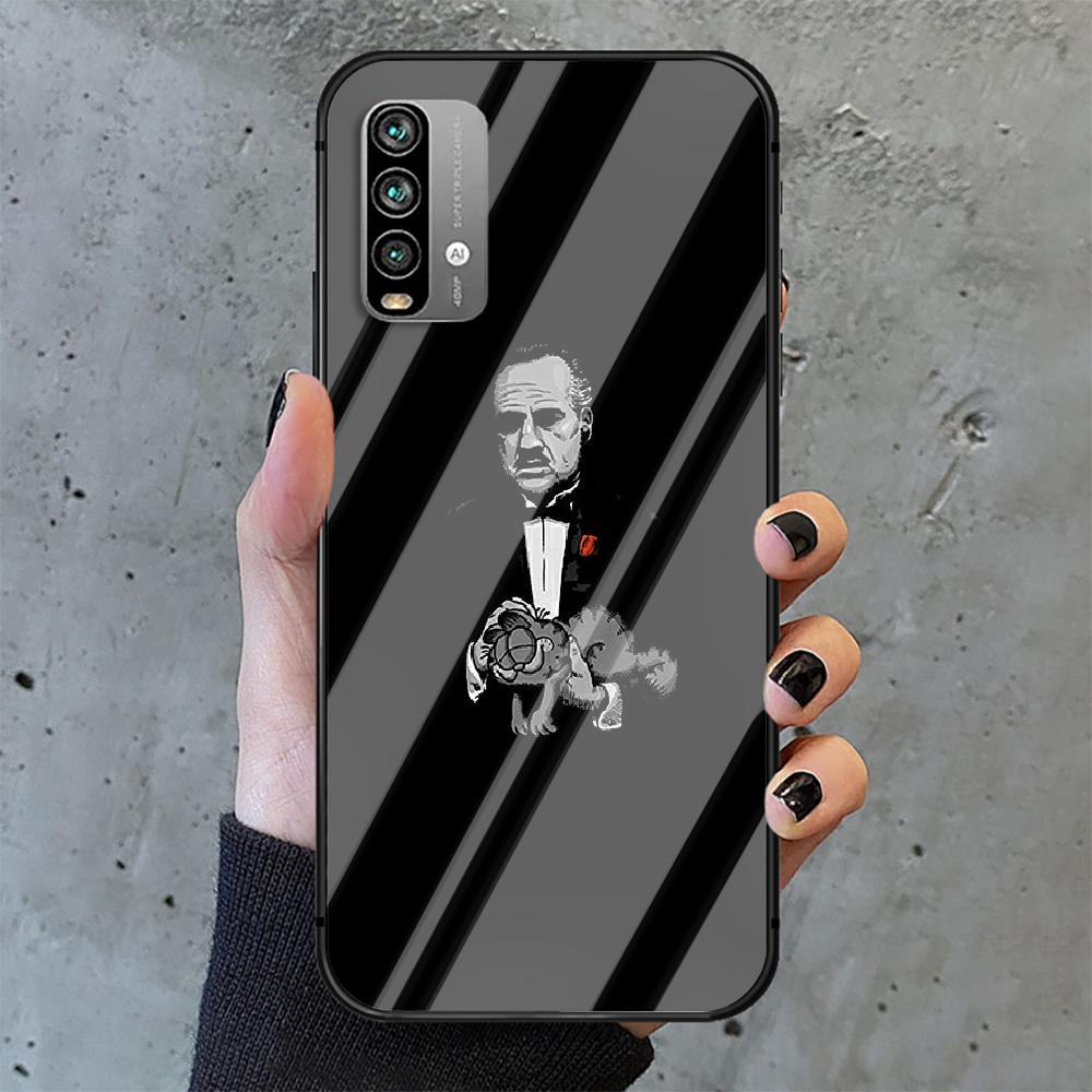 Classic Movie Godfather Phone Tempered Glass Case Cover For Xiaomi Redmi note k 7 8 9 10 30 40 A C T S Pro 4G 5G Ultra Hot Coque  - buy with discount