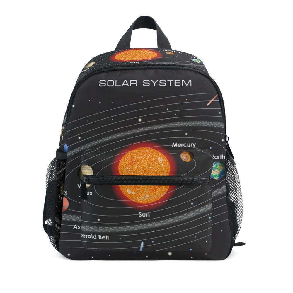 Mochila escolar con sistema solar para niños, morral escolar para niños, color...