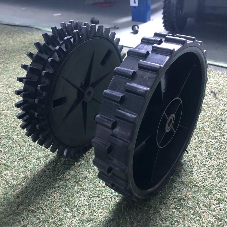 جزاز عشب آلية عجلات-1-2 قطعة عجلة خلفية ل DEVVIS جزاز عشب آلية E1600T ، E1600 ، E1800T ، E1800 ، E1800S