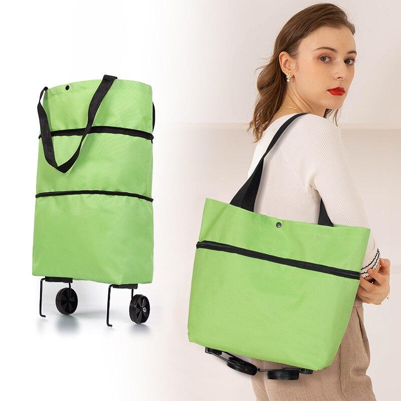 Складная тележка для покупок, сумка-тележка с колесами, складная детская сумка для продуктов, органайзер для еды