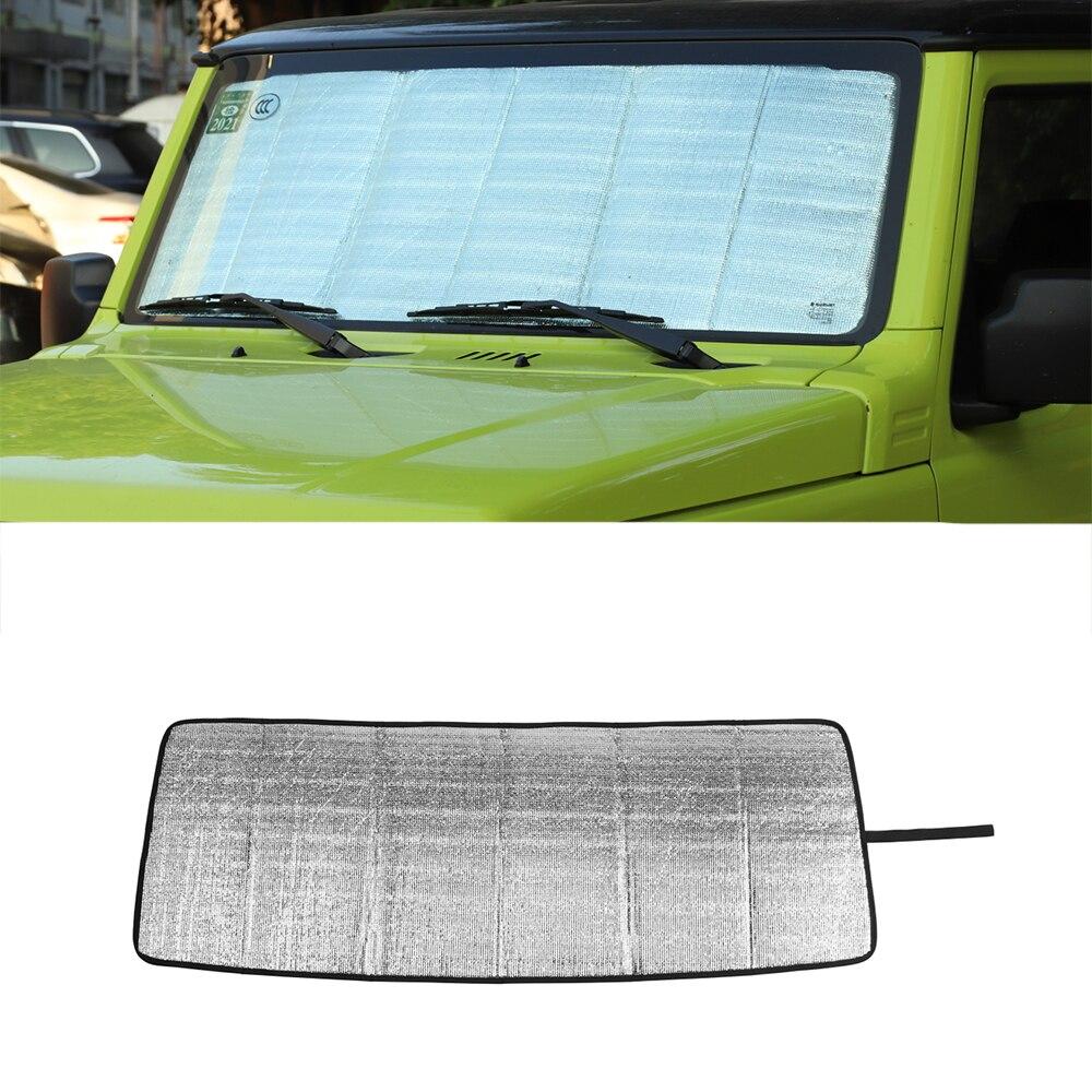 Автомобильный солнцезащитный козырек на лобовое стекло для Suzuki Jimny 2019 + аксессуары для салона автомобиля из алюминиевой фольги 1 шт. автомобильный Стайлинг для Suzuki Jimny
