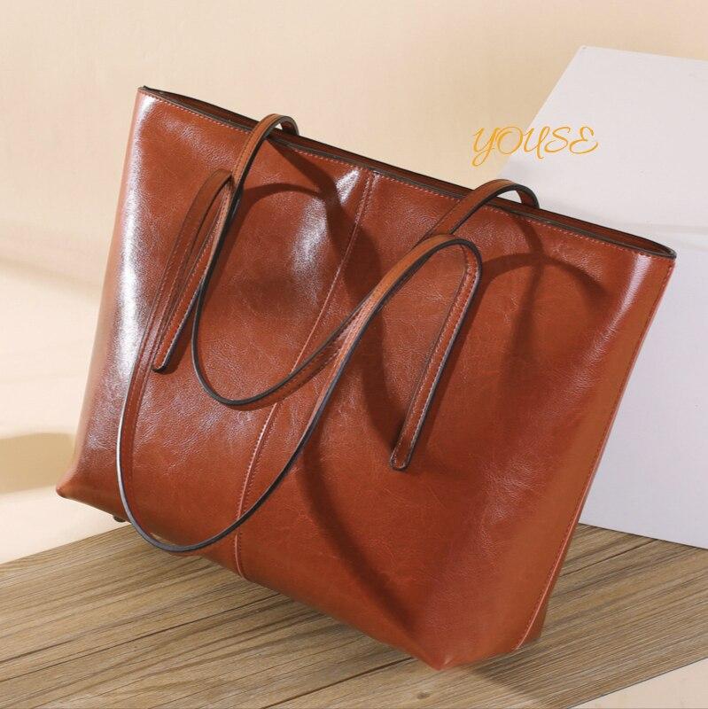 European And American Fashion Female Bag Large Capacity Shoulder Versatile Tote Ladies Handbag Simple Travel