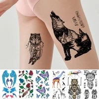 sexy tattoos for men womens temporary tattoo dream catche waterproof tattoos real looking fake tatoo boy grils lion deer wolf
