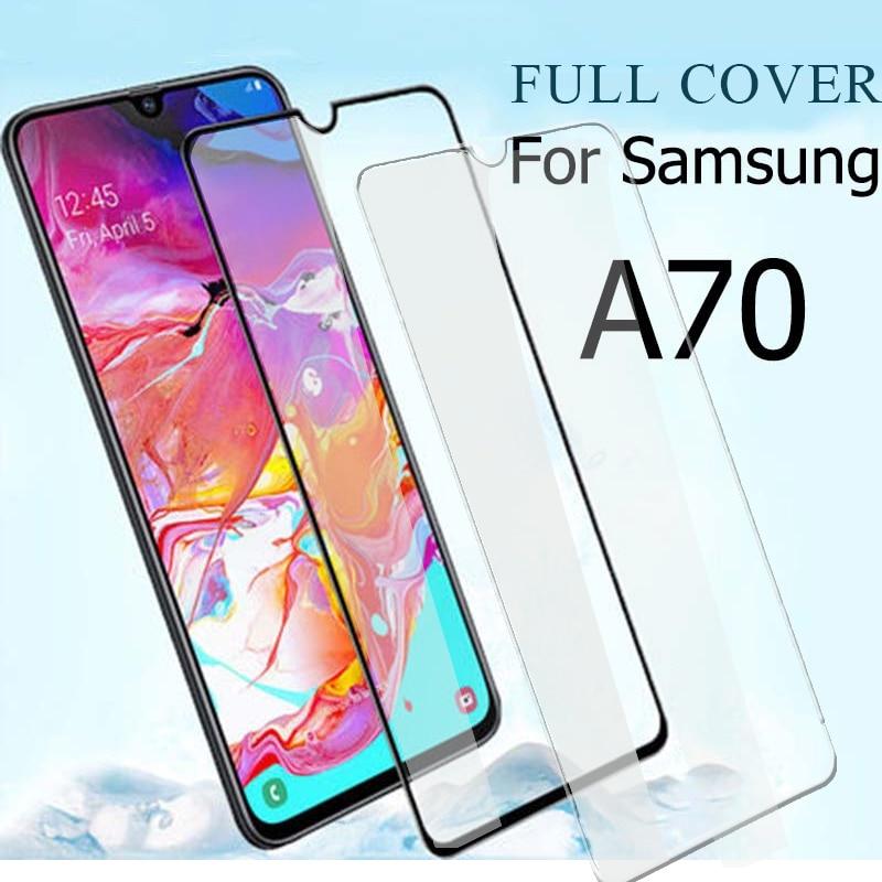 Vidrio de cobertura completa para Samsung A70 A70S, vidrio templado, Protector de pantalla para Samsung Galaxy A 70 2019 70S 70A 6,7 SM-A705F SM-A707F