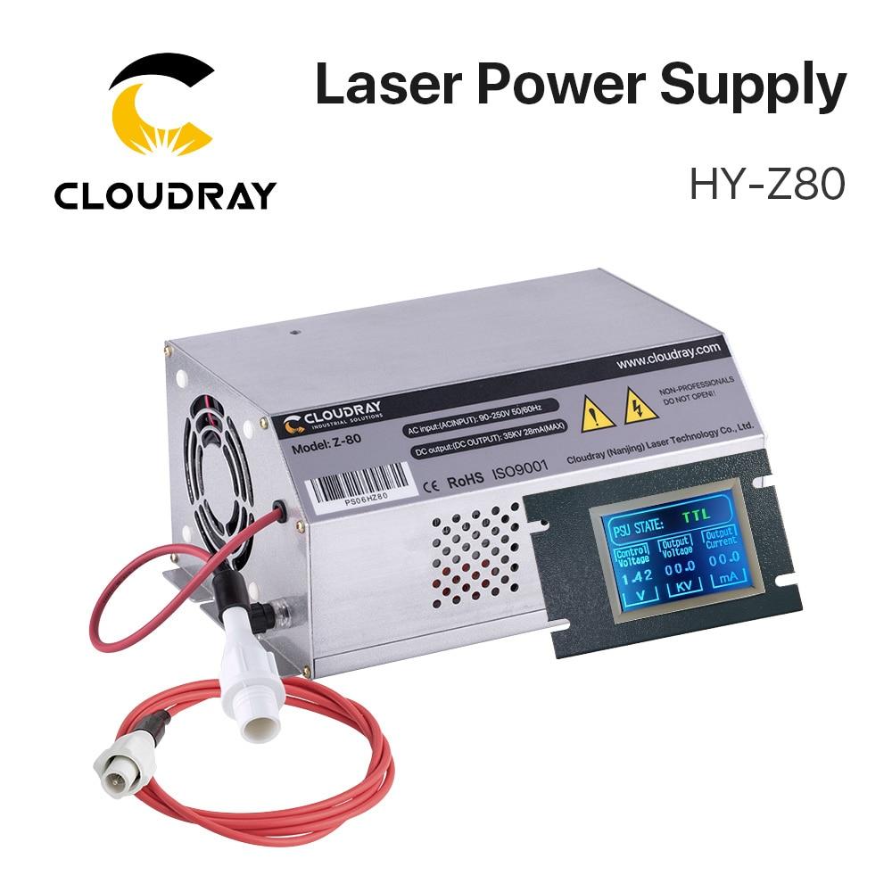 Cloudray 80-100W CO2 الليزر امدادات الطاقة رصد AC90-250V EFR أنبوب ل CO2 الليزر قطع النقش آلة HY-Z80 Z سلسلة