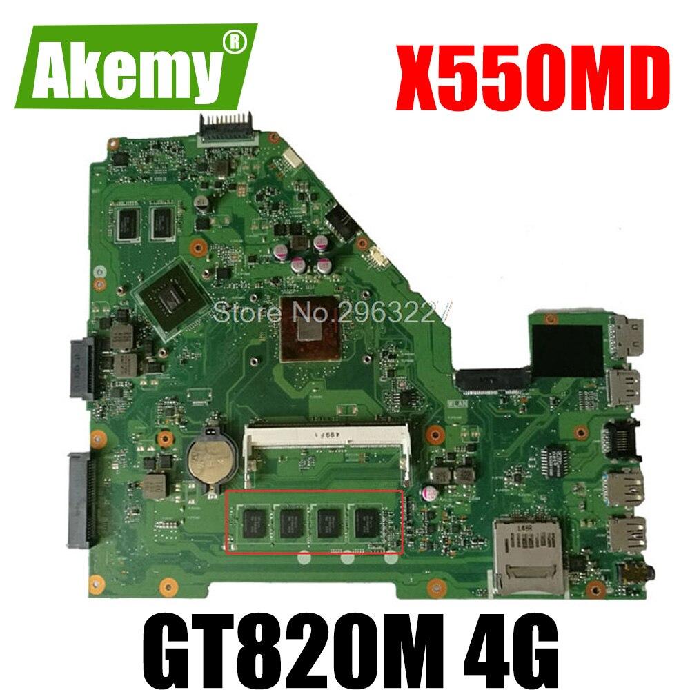 X550MD اللوحة القس 2.0 GT820M 4GB N2840 ل For For For For Asus X550M Y582M X552M اللوحة المحمول X550MD اللوحة X550MD اللوحة