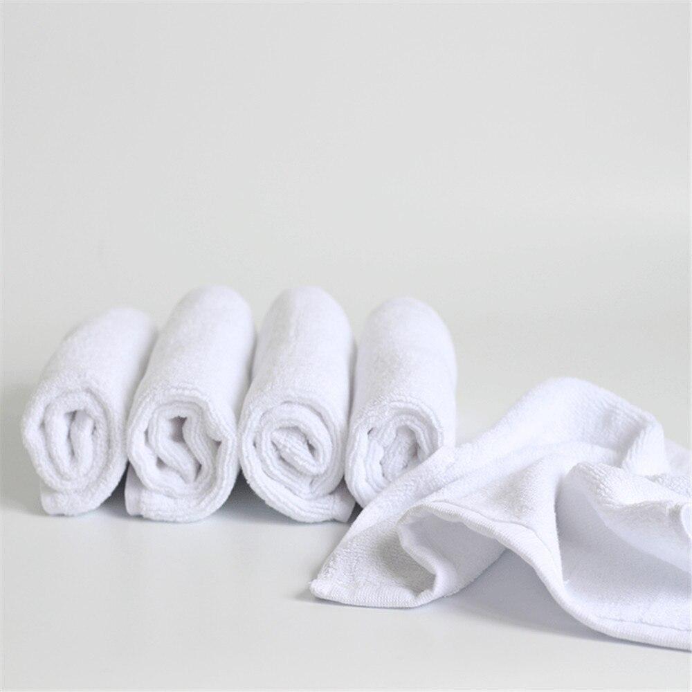 Toalla para rostro económica blanco suave al por mayor toallas de mano pequeñas cuadradas Toalla blanca de cocina Hotel restaurante jardín de infancia Toalla de algodón
