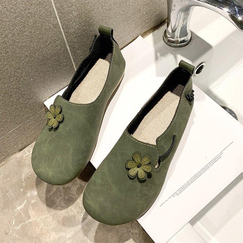 Женская Осенняя обувь повседневная обувь 2020 круглый носок, Мокасины, удобная женская повседневная обувь женская обувь