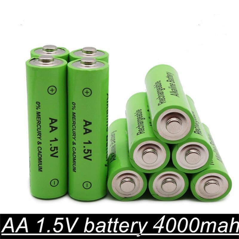 Batería recargable 1,5 V AA 4000mAh 1,5 V nueva batería alcalina recargable para juguete de luz led mp3 envío gratis