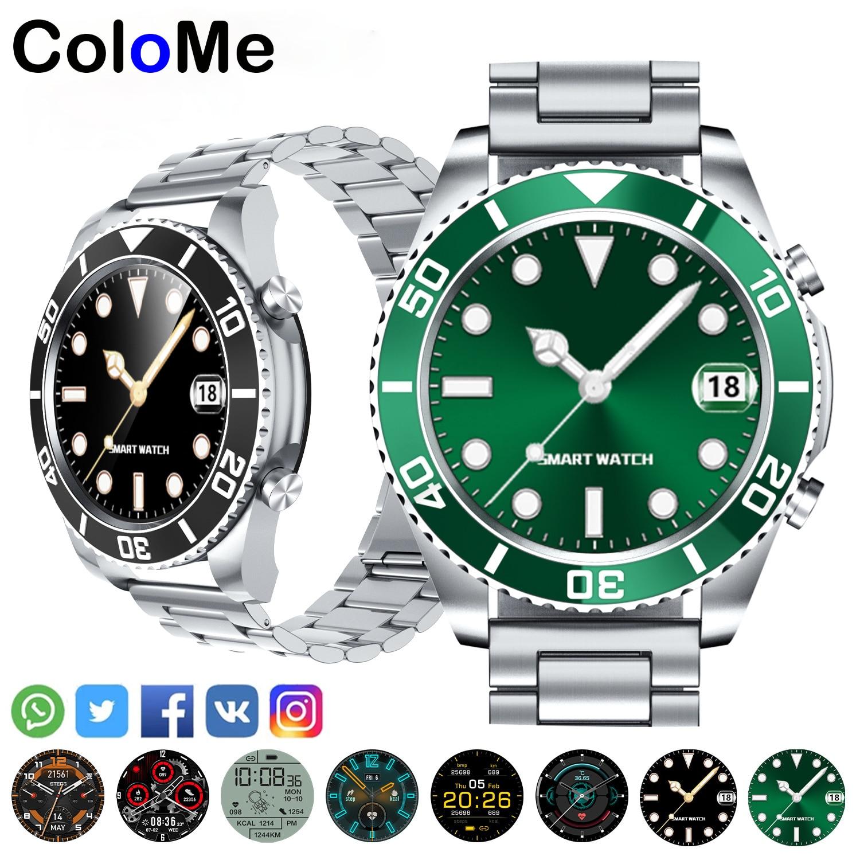 New Fashion Water Ghost Fine Steel Strap Smart Watch Men Business Watch for Rolex Watch Samsung Huawei Bluetooth Call Watchch