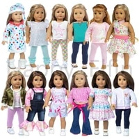 happy elfin doll accessories red white blue series clothes shoes for 18 doll american 43cm doll baby born doll girl diy toys
