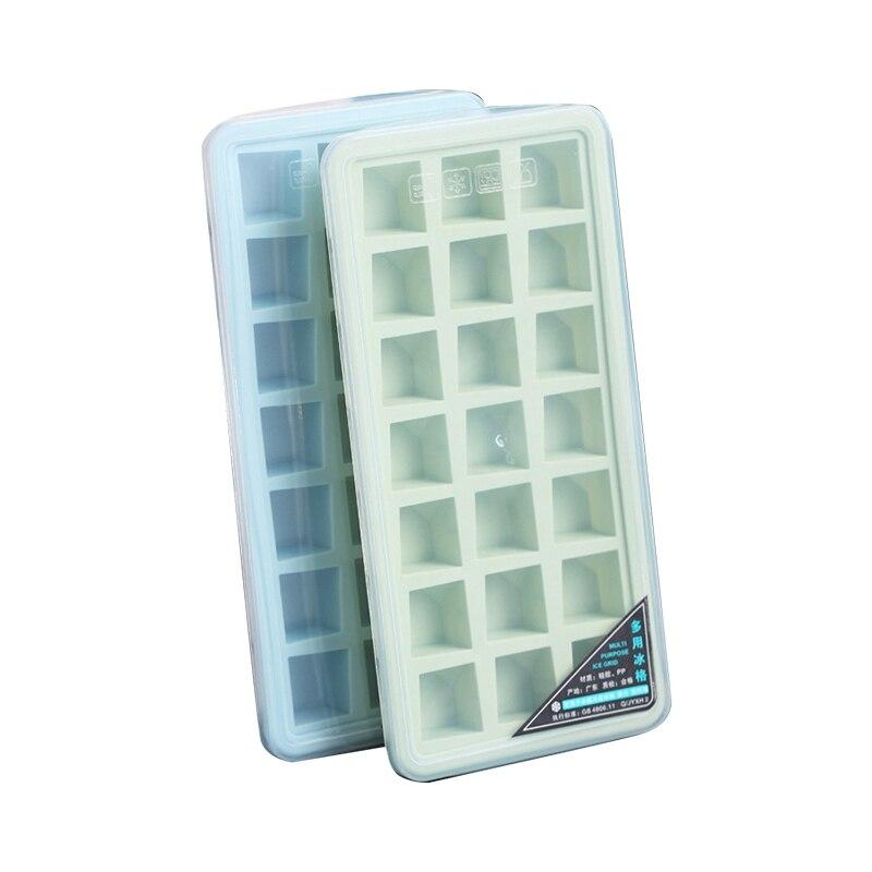 2PC 21 redes cubos de hielo reutilizables bandeja con tapa de bricolaje...