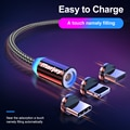 IPhone सैमसंग एंड्रॉइड फास्ट चार्जिंग चुंबक यूएसबी टाइप-सी केबल मोबाइल फोन कॉर्ड वायर के लिए मार्जै मैग्नेटिक चार्जिंग चार्जर मैग्नेटिक माइक्रो यूएसबी केबल