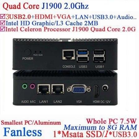 Vara de alta performance windows celeron j1900 j1800 quad core 4g ram 32g ssd wifi 1 hdmi vga usb3.0