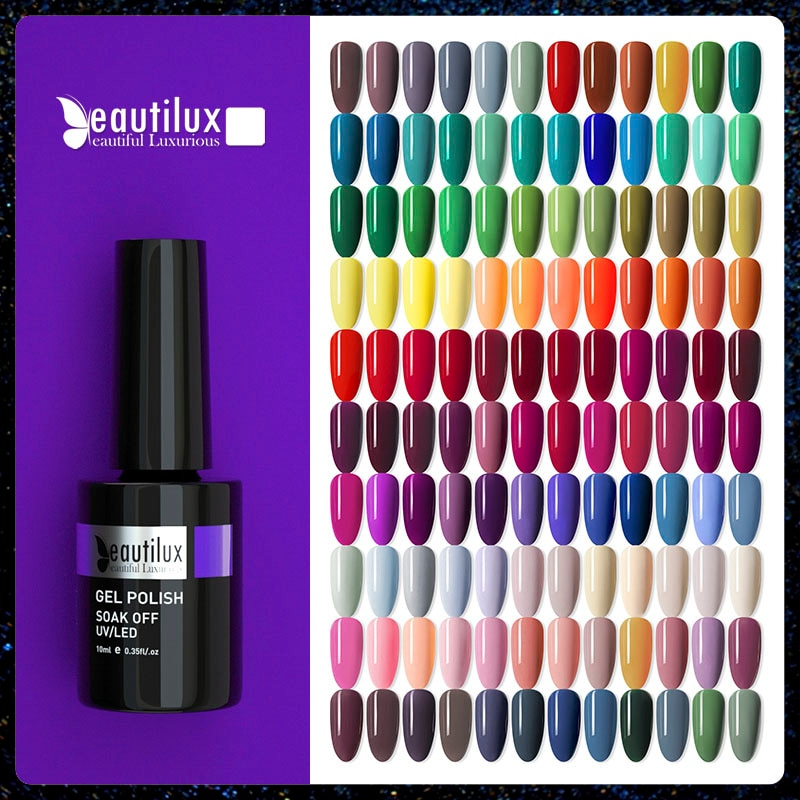 Beautilux Gel Nail Polish AC Colors Professional UV LED Salon Nails Art Gels Varnish Soak Off Semi P