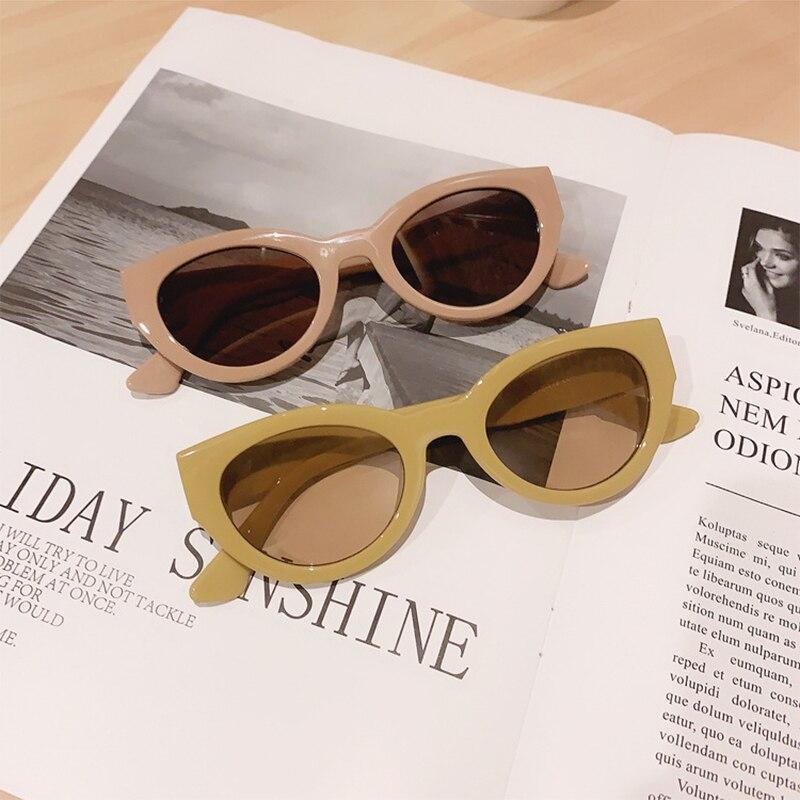 Для женщин солнцезащитные очки овальные линзы Мода личность очки милый дикие солнцезащитные очки корейский светильник оправы очки Защита ...