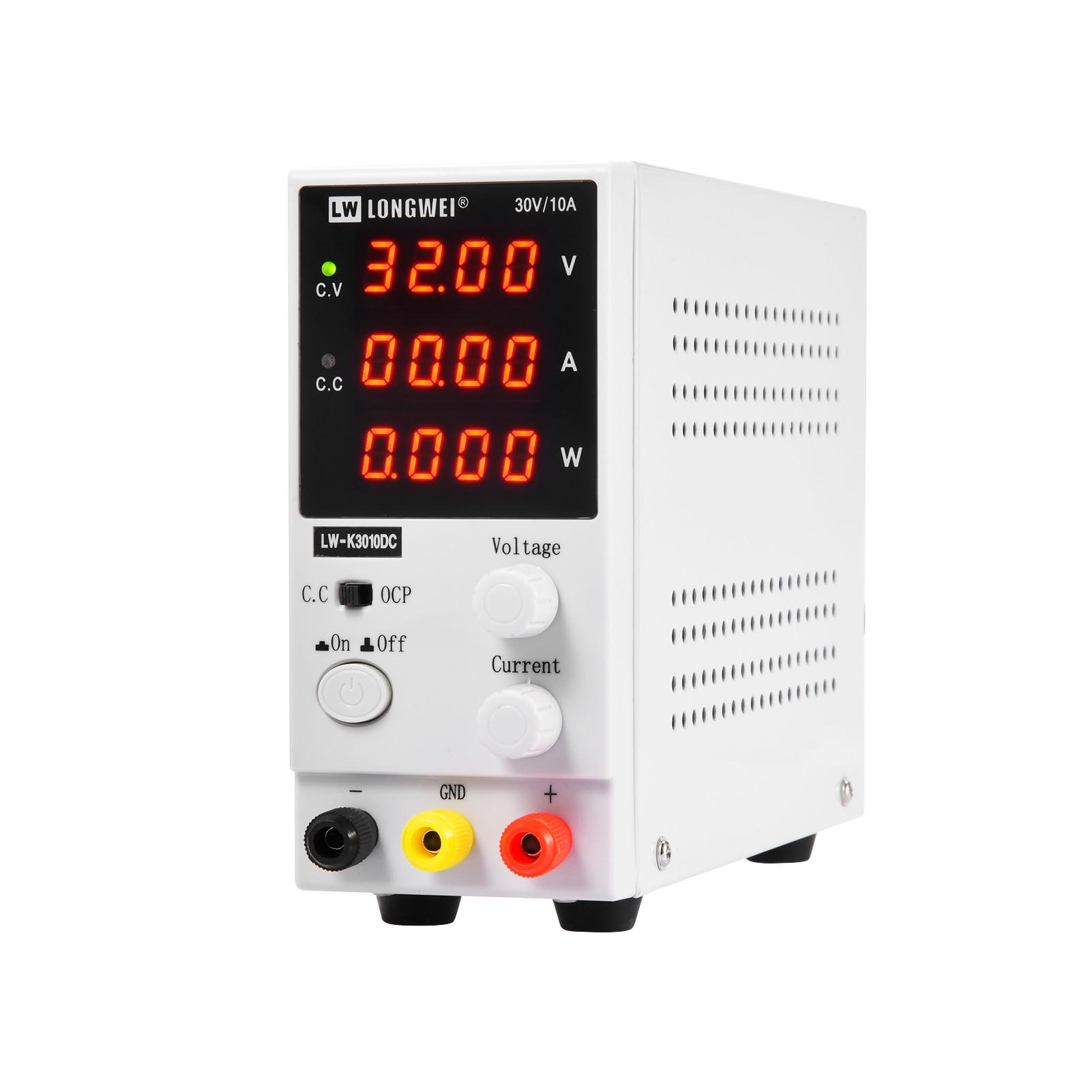 LED Adjustable DC Laboratory 30V 10A Lab Power Supply Adjustable 0-10 A Voltage Regulator Stabilizer Switching Power Source nps306w laboratory switching power supply 30v 6a variable dc stabilized power supply 0 1v 0 01a 180w electroplating power supply