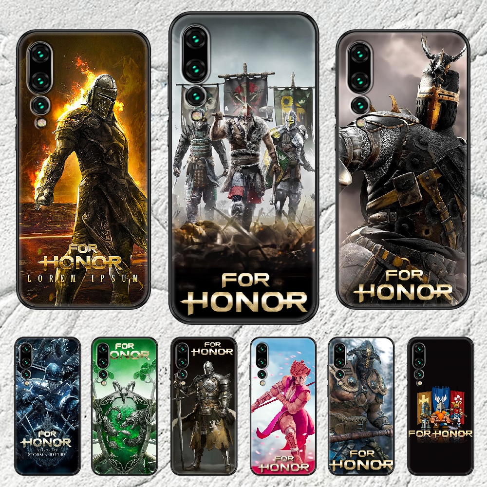 For Honor Warrior Phone case For Huawei P Mate P10 P20 P30 P40 10 20 Smart Z Pro Lite 2019 black pre