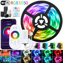 LED Strip Lights WIFI RGB 5050 Fita 16.4-98.4 Feet For TV Computer Bedroom Background Decoration Supports Alexa Google Control