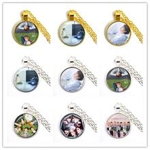 ¡Producto en oferta! Collar con colgante de cabujón de cristal de 25mm del ejército bomba Kpop BT21 joyería k-pop accesorios para niños para Fans álbum Love Yourself regalo