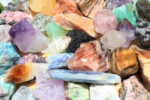1000 quilates lote granel misturados crafters gemas de cristal natural bruto rochas minerais