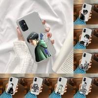 attack on titan phone case transparent for oneplus 9 8 7 7t 8t oppo find x3 x2 reno5 vivo x60 x50 pro meizu 17 16xs