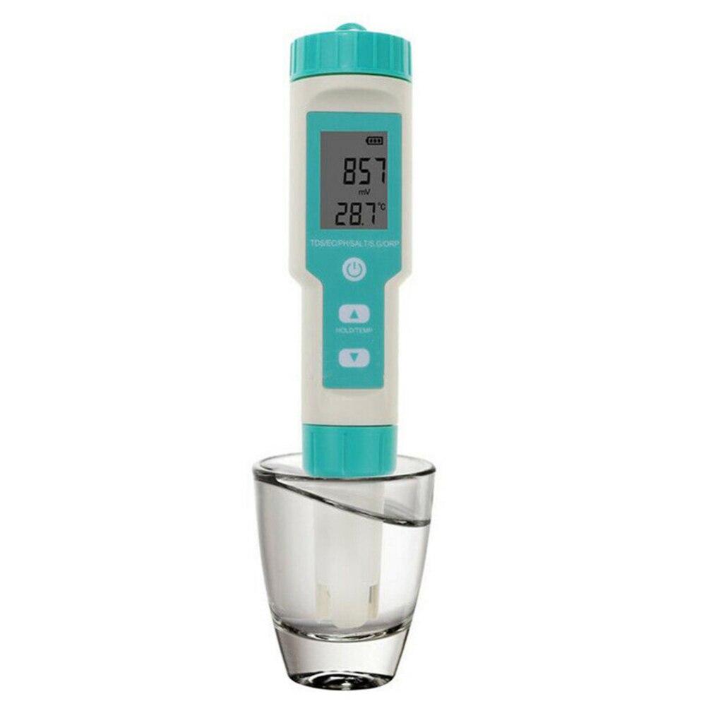 7 في 1 عالية الدقة الرقمية كشف المياه الرقمية جهاز اختبار جودة الماء القلم PH TDS درجة الحرارة EC ملوحة SG ORP متر كشف المياه
