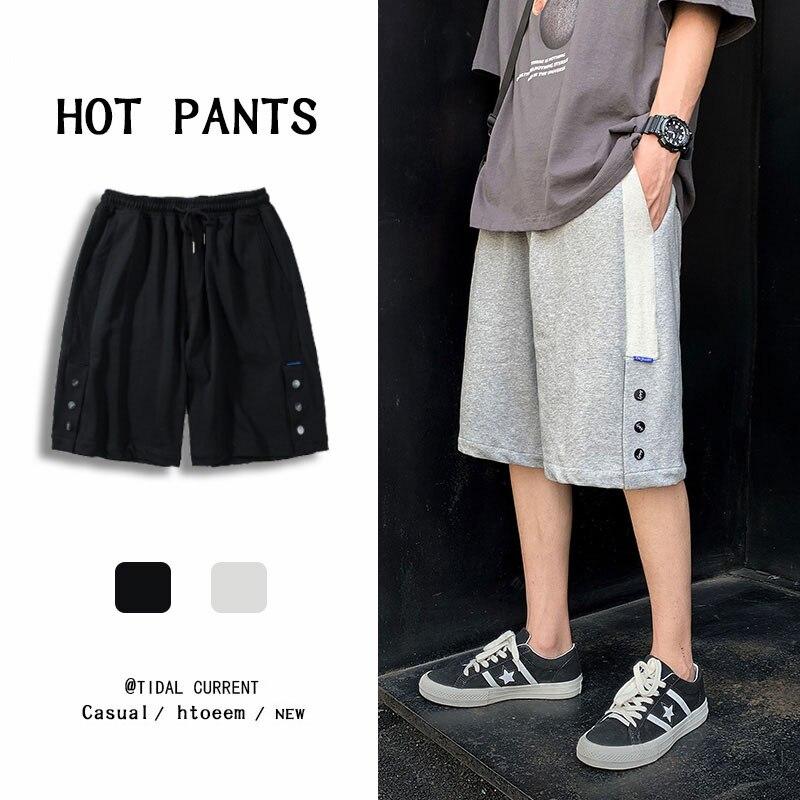 Шорты мужские утепленные, модные брендовые свободные утепленные тонкие повседневные универсальные спортивные в Корейском стиле, на лето, 5%