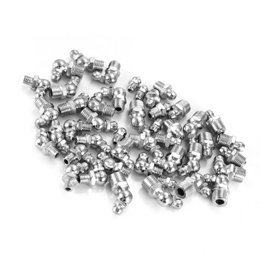 45Pcs/set M6/M8/M10 Durable Metal Brass Zerk Grease Nipple Fitting Assortment Kits Nut and Bolt Sets