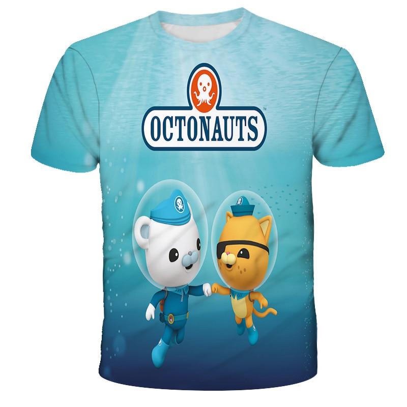 2021 3D children's T-shirt, 3-12T, boy and girl clothing, cartoon game pattern, summer top, new series