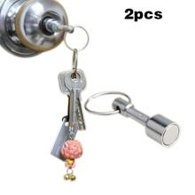 2 pièces/ensemble fort aimant porte-clés poche porte-clés anneau fendu porte-clés cadeau TT @ 88