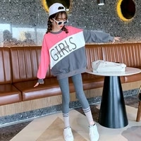 girls clothing sets new autumn kids clothes casual letter sweater leggings suits children girls clothes set 4 6 8 10 12 years