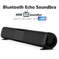 Barre de son 40W TWS100W brevetee  nouveau haut-parleur Bluetooth sans fil Echo TV Home cinema Boombox Music Center pour PC cinema TV   TF   AUX