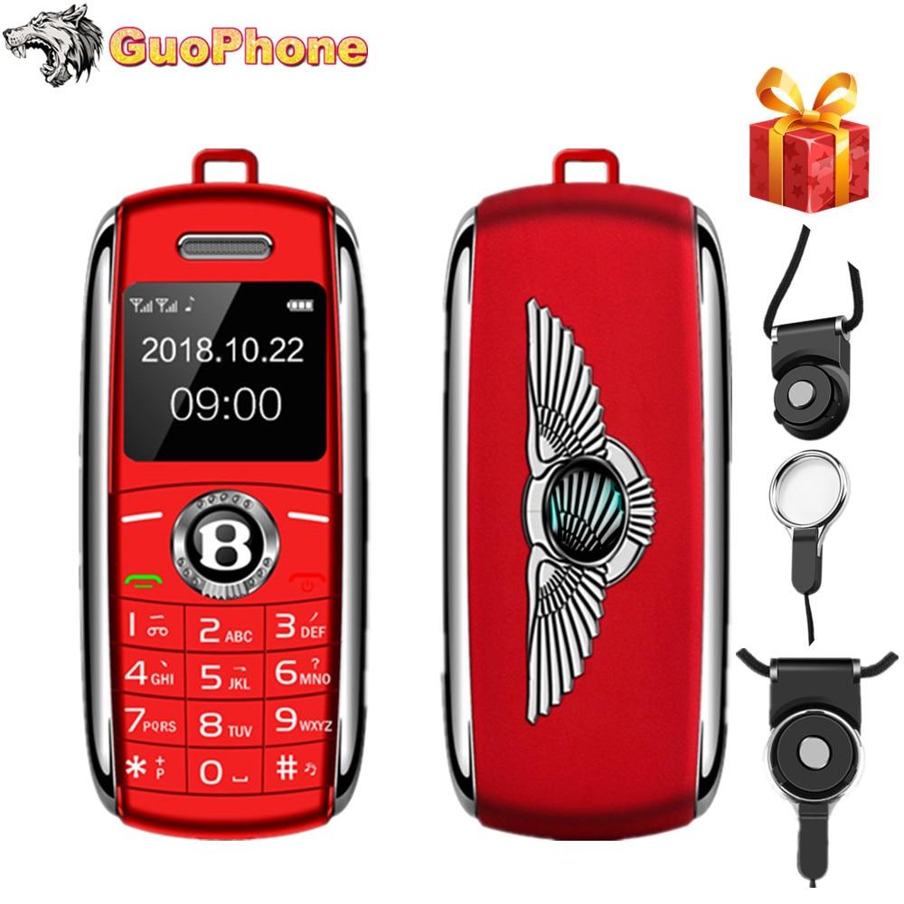 "2019 New Unlocked Mini Mobile Phone 0.66"" Bluetooth Dialer Hands Mini Telephone MP3 Magic Voice Dual Sim Smallest Cell Phone"