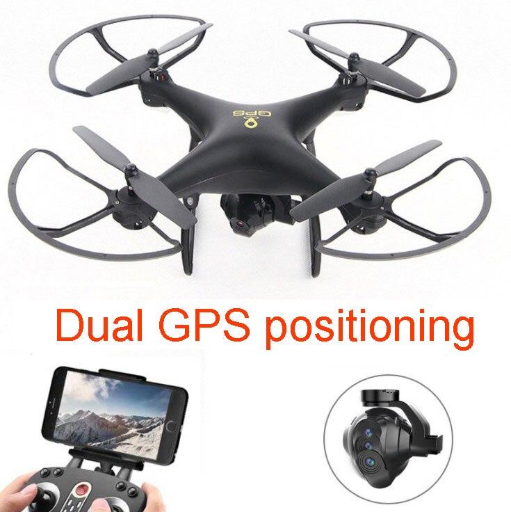 Dupla GPS zangão RC ESC fpv wi-fi Câmera HD inteligente Seguir Dron Headless modo em tempo real RC RTF controle remoto helicóptero quadcopter