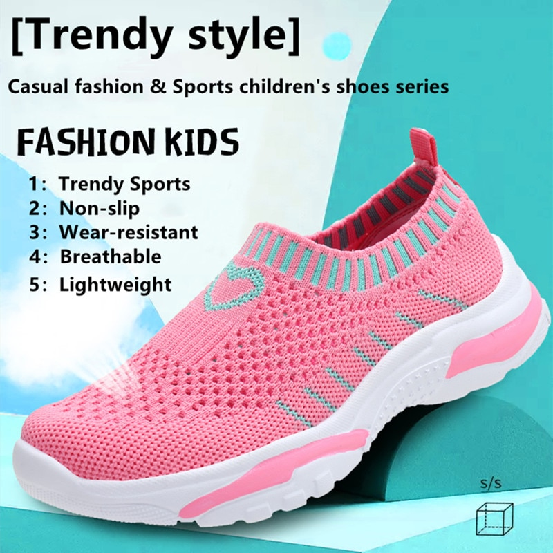 Summer Kids teens Sneakers light Shoes For Girls Sport Child Leisure Tenis Infantil Casual Warm Fash